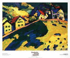 Wassily Kandinsky - Häuser am Hügel, 1909