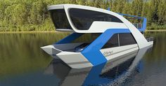 Houseboat concept made for lakes and rivers.