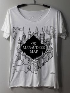 The Marauder's Map Shirt Harry Potter Map by ThinkingGallery, $16.00