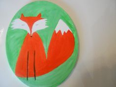 """This 8"""" x 10"""" painting of a fox would look great in a woodland themed nursery or child's room."""