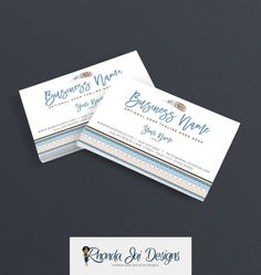 Business Card Designs - Feather Business Card - Boho Business Card - Tribal Print Printable Business Card Design - Premade - Feather 2-16 by RhondaJai on Etsy