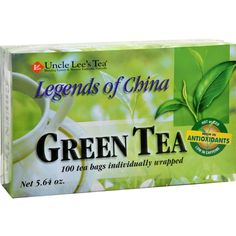 Uncle Lees Legends of China Green Tea - 100 Tea Bags - Uncle Lees Legends Of China Green Tea Description: Paper Wrapped Tea Bags For High Quality Of Freshness Individually Wrapped Tea Bags Uncle Lees famous non-fermented green tea is freshly grown and harvested from a tea plantation in the Fu-Jian province of China where the tender young leaves are at their most flavorful. The leaves are then gently washed, steamed, rolled and dried to retain their delicate flavor and aroma. With 100 tea…