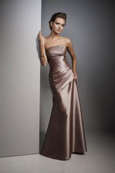 Bridesmaid Dresses Sheath/Column Floor Length Strapless Trumpet/Mermaid Taffeta