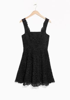 & Other Stories   Scallop Edge Lace Dress