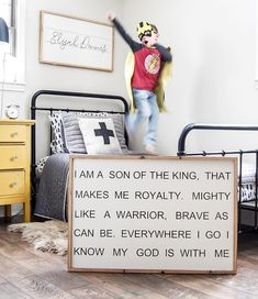 I am a son of the King sign Barn Wood Signs, Barn Wood Frames, Wood Pallet Signs, Wood Pallets, Basketball Room, Bravest Warriors, Nursery Name, Room Signs, Black Letter