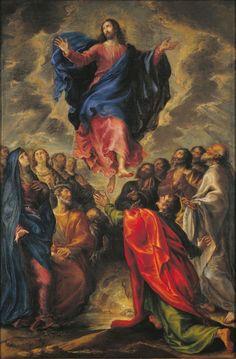 Francisco Camilo - The Ascension of Christ; Museu Nacional d'Art de Catalunya, Barcelona, Spain; Image Jesus, Jesus Christ Images, Catholic Art, Religious Art, Catholic Medals, Religion, Google Art Project, Jesus Painting, Holy Rosary