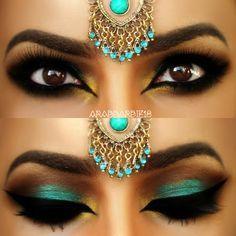 Teal Arabic Makeup By ?????????? ??