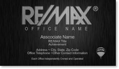 9 best business card ideas images on pinterest business card remax business cards for real estate agents reheart Images