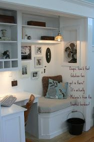 Cute nook area for writing, studying, or just curling up with a good book and a cup of tea.