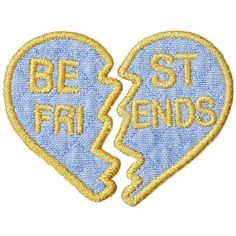 Stoney Clover Lane Best Friends Denim Sticker Patch Set (83 ARS) ❤ liked on Polyvore featuring accessories, blue and stoney clover lane