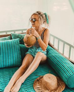 "2,723 Likes, 14 Comments - Hailey Marie (@dreaming_outloud) on Instagram: ""sipping fresh coconut juice by the pool  @jungleroombali #junglevillamango"""