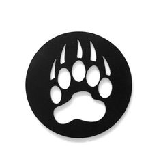 Bear Paw Print Metal Art by RillaBee on Etsy, $30.00