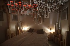 Installation Decorates Hotel Room With An Interactive Wooden Skyline | The Creators Project