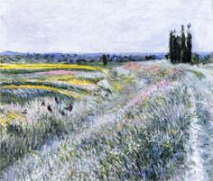 The Yellow Fields at Gennevilliers, 1884, Gustave Caillebotte