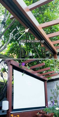 Retractable outdoor movie theatre screen
