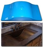 Concrete Countertop Sink Mold, Wave