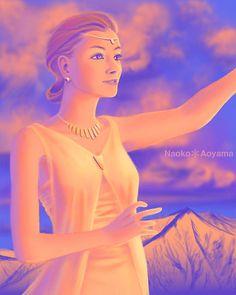 """2001 """"Sunset"""" photoshop by Naoko Aoyama"""