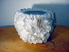 Rock Crystal Quartz Planter