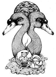Time Keepers, Dream Stealers.  www.danielaroessler.com #illustration