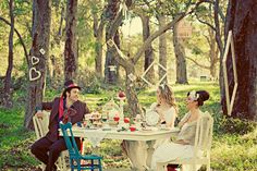Alice in Wonderland Photo shoot- were going to need a table, chairs, and tea party things