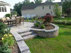 Backyard Retreat, Backyard Patio, Landscaping Tips, Front Yard Landscaping, Patio Builders, Concrete Patio Designs, Raised Patio, Landscape Services, House Landscape