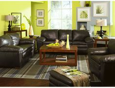 Green And Black Living Room