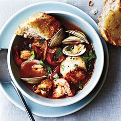 Seafood Cioppino | MyRecipes.com Having this tonight, but using a combination of recipies.
