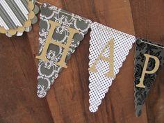 Happy Anniversary Banner Wedding Banner by twogirlspaperdesign, $27.00