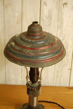 industrial style gear lamp with an upcycled by kilowattscreations 7500