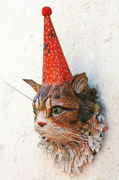 Items similar to paper mache cheetah head/cheetah sculpture wall mount/cheetah birthday/faux tiger taxidermy/gift for cat lovers/kids room/bohemian on Etsy Paper Mache Head, Paper Mache Sculpture, Sculpture Ideas, Paper Art, Paper Crafts, Kitty Kitty, Pet Portraits, Cheetah, Animals And Pets