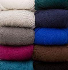 Capretta Yarn - 80% Fine Merino Wool, 10% Cashmere, 10% Nylon Fingering Knitting Yarn, Crochet Yarn and Roving