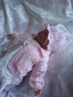 No 64 Kadiejade Knitting Pattern Free Knitting Patterns Uk, Knitting For Kids, Double Knitting, Crochet For Kids, Knitting Designs, Knitting Yarn, Knit Baby Sweaters, Knitted Baby Clothes, Baby Doll Clothes