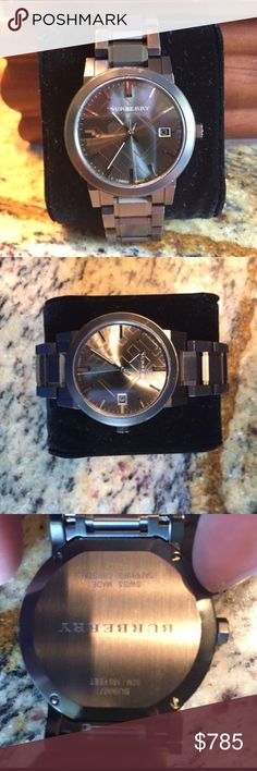 🔥BURBERRY WATCH🔥 Authentic Burberry watch! -Gun Metal Watch  -comes with box! Like new ! :) ‼️SERIOUS INQUIRES ONLY‼️ Burberry Accessories Watches