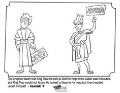 Kids Coloring Page From Whats In The Bible Featuring Isaiah And King Ahaz Volume God Speaks