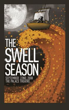 The Swell Season promo poster by Clinton Reno Concert Posters, Music Posters, Band Posters, Glen Hansard, Poster Prints, Gig Poster, Lyric Art, Tour Posters, Music Artwork
