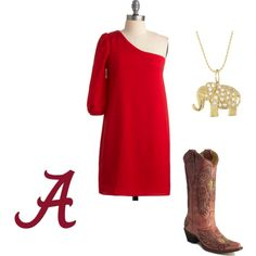 alabama game day I can almost create this outfit with my new dress(: can't wait to sport it in a few weeks!!