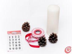 Un centrotavola natalizio o per l'avvento facile e veloce
