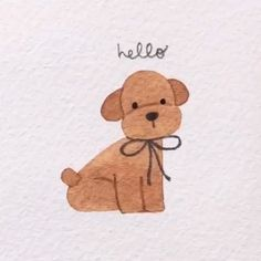 Hello🐾and morning🔆Your daily cutie is online🐶♥️ 📸Credit: yejukoo - ✨Shop brush pens, bujos, washi tape Cute Easy Animal Drawings, Colorful Drawings, Easy Drawings, Dog Drawing Simple, Cute Dog Drawing, Drawing Ideas, Hedgehog Drawing, Maus Illustration, Illustrations