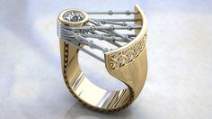 CAD ring design by Mark King.
