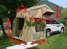 Rooftop Roof Top Tent Camper Trailer Camping Car With Annex Rooftop Tent Camping, Glamping, Outdoor Camping, Jeep Camping, Camping World, Camping Hacks, Top Tents, Roof Top Tent, Motorhome