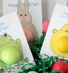 Easter teacher gift easter pinterest easter gift and jingle bells create some adorable easter gifts for someone who loves eos lip balm free printable easter gift cards so you can attach your eos lip balm negle