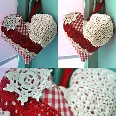 heart pillows valentines