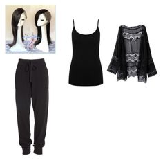 """""""Genderbend Uta Tokyo Ghoul"""" by abbyawesome37 ❤ liked on Polyvore featuring M&Co and Donna Karan"""
