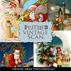 Far Far Hill - Free database of digital illustrations and papers: Freebies Vintage Post Cards