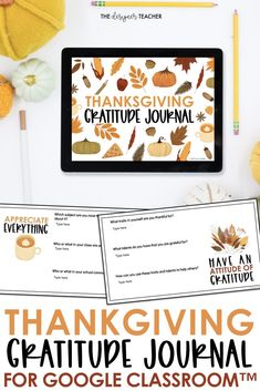 Encourage students to cultivate an attitude of gratitude with this beautiful digital thankfulness journal. Perfect for the days before Thanksgiving break, each Google Slide™ includes a gratitude quote and 2-3 questions to encourage students to reflect and express gratitude. Great for distance learning!