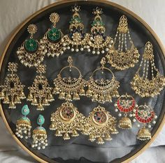 N - Indian Jewelry - . - N – Indischer Schmuck – - Indian Bridal Jewelry Sets, Indian Jewelry Earrings, Jewelry Design Earrings, Silver Jewellery Indian, Fashion Earrings, Gold Jewelry, Silver Bracelets, Silver Rings, 925 Silver