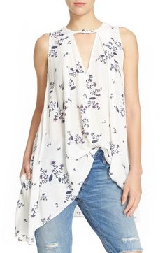 Free People 'Tree Swing' Sleeveless Top IN WASHED STONE available at #Nordstrom