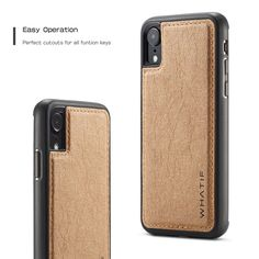WHATIF Kraft Paper Shockproof Protective Case For iPhone XR Iron Man, Iphone 7, Iphone Cases, Diy Case, Samsung S9, Note 9, Kraft Paper, Protective Cases, Pu Leather
