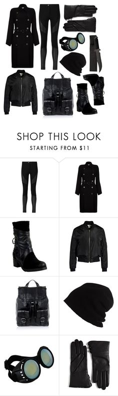 """""""Misaki (After)"""" by nerdywordy ❤ liked on Polyvore featuring Givenchy, Ghost, Miz Mooz, Sans Souci, Proenza Schouler, SCHA, Elope, Lord & Taylor, black and Leather"""