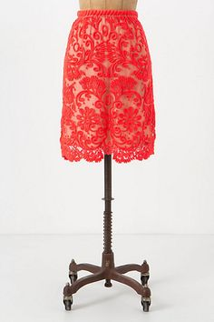 Sunblaze Lace Skirt #anthropologie - go to the webpage to see the outfit they craft - I die